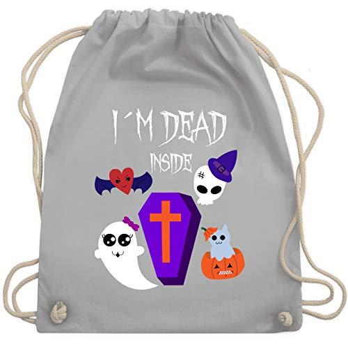 (Halloween - I'm dead inside - Unisize - Hellgrau - WM110 - Turnbeutel & Gym Bag)