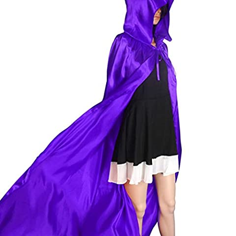Halloween Hooded Cloak Cape Robe Halloween Costume Knight Fancy Cool Cosplay Costume for Adults (S,