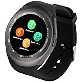 YUNTAB Watch Bluetooth Smart Watch Fitness Handgelenk-Verpackungs-Uhr-Telefon Touch Screen für iPhone Samsung HTC LG Android Phone Smartphone mit SIM-Karte
