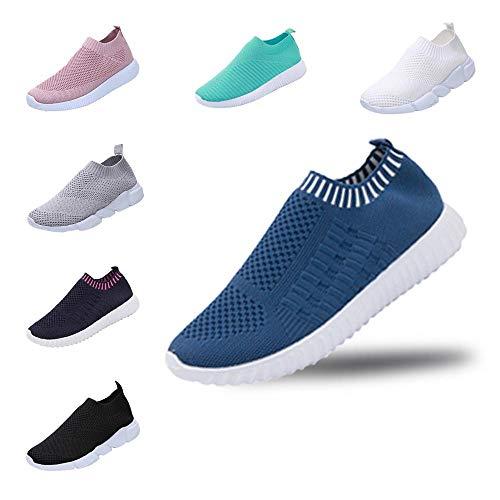 YWLINK Mode Mesh Damen Sneakers Outdoor Mesh Freizeit Sportschuhe Klassisch Atmungsaktive Laufschuhe (B Blau,40 EU)
