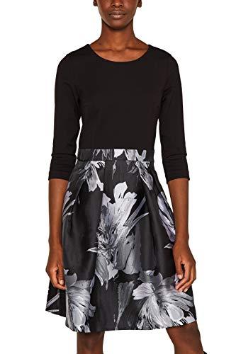 ESPRIT Collection Damen 109Eo1E004 Kleid, Schwarz (Black 001), (Herstellergröße: 42)