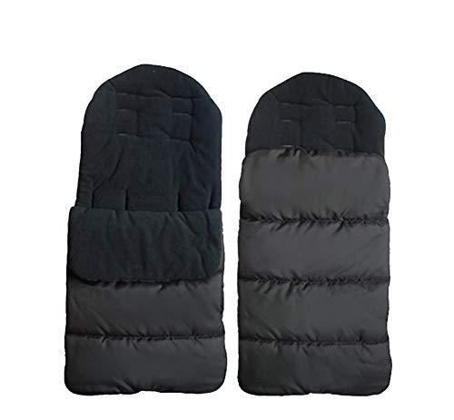 BabyFat Chancelière universelle pour poussette couvre-jambe pour l'hiver coupe-vent sac de couchage housse de siège en coton pour poussette de bébé 0-24 mois Noir