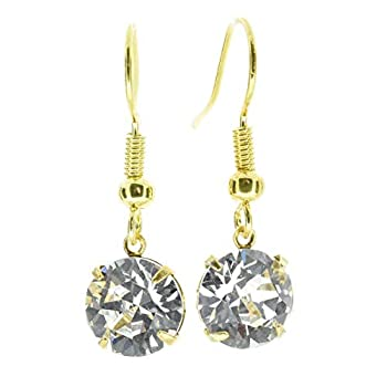 0c35c510f pewterhooter 18ct Gold plated drop earrings made with Diamond White crystal  from SWAROVSKI®. London gift box. ┃ Cheapest Appliances 》 123PriceCheck.com