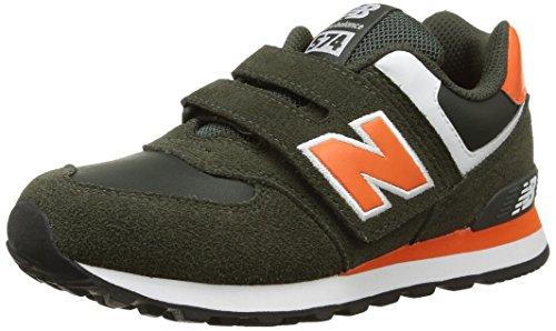 New Balance NBKG574AOP Sneaker, Bambino, Verde (Green/Orange), 31