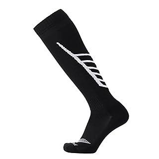 Laulax Coolmax Performance Football Socks, Black Arrow, Size UK 7-11 / Europ 41-46