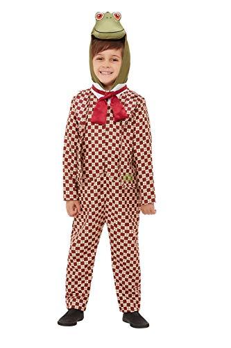 Smiffys 48781T1 Offiziell lizenziertes Wind-In The Willows Deluxe Toad Kostüm, Jungen, Rot, Kleinkind - Alter 1-2 Jahre