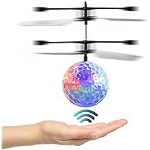 Switchali RC Juguete EpochAir RC Flying Ball, RC Drone helicóptero bola Iluminación LED Shinning incorporado para niños Adolescentes Colorful Flyings para niños juguete