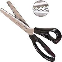Hui Tong Fuerte y Afilado Tijeras zig Zag para Tela,Serrado y Festoneado Tijeras dentadas,Un Total de 6 Modelos(Serrado 5mm)