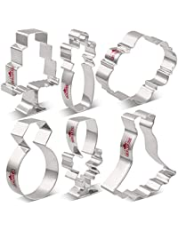 392bd0124da9 KENIAO Boda Cortadores Galletas para Compromiso - 6 Piezas - Anillo de  Diamantes