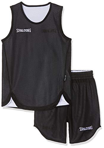 Für Jungen Kostüm Basketball - Spalding Kinder DOUBLEFACE KIDS SET Kinder Trikot&shorts Set Trikot Doubleface Set, Mehrfarbig (Reversible Black/White), XS (152)