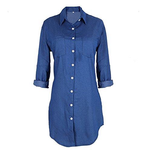 balai-womens-long-sleeve-jeans-long-t-shirt-casual-denim-mini-dress-shirt-dress-uk10