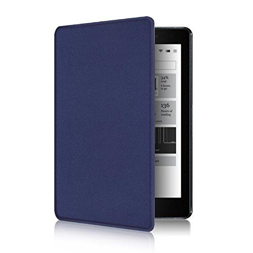 Kobo Aura One 7.8 Etui - Folio Étui Housse Coque Ultra Mince et Léger à Rabat Fonction Réveil / Sommeil Automatique pour Kobo Aura One Liseuse eBook 7,8 Pouces 2016, Indigo