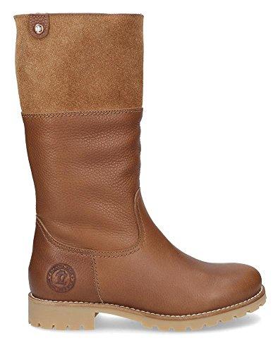 PANAMA JACK Damen Winterstiefel Belinda Igloo,Frauen Winter-Boots,Fellboots,Lammfellstiefel,Fellstiefel,gefüttert,Warm,Lederfarben,EU 37
