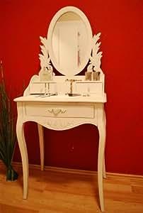 frisierkommode frisiertisch schminktisch landhaus schminkplatz sekret r antik wei. Black Bedroom Furniture Sets. Home Design Ideas