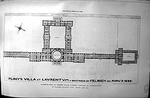 Professeur 1890 de Laurentum Felibien de la villa de Pline de plan de constructeur Aitchison Academy