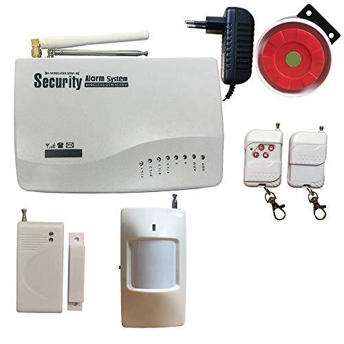Huilingyi Tech Wireless GSM Security Alarmanlage Home Wireless RFID Einbrecher Security Support Auto Dial, Englisch Russisch Sprache, mit Infrarot-Bewegungsmelder, gsm-02-standard, 100 - Home Security Auto Dial