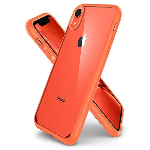 """spigen Funda iPhone XR, [Ultra Hybrid] Tecnología de cojín de Aire y protección híbrida de la caída para iPhone XR 6.1"""" (2018) - [Coral] 064CS25348"""