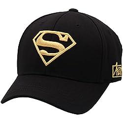sujii SUPERMAN gorra de beisbol Baseball Cap Sombrero de golf gorra de camionero, L/Blk/Gld Embrdry