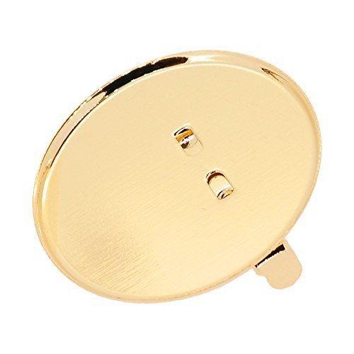 (Accessoire pièces / raccords métalliques) Cimaise Rimbed 25 mm broche plat / couleur or 10 pièces
