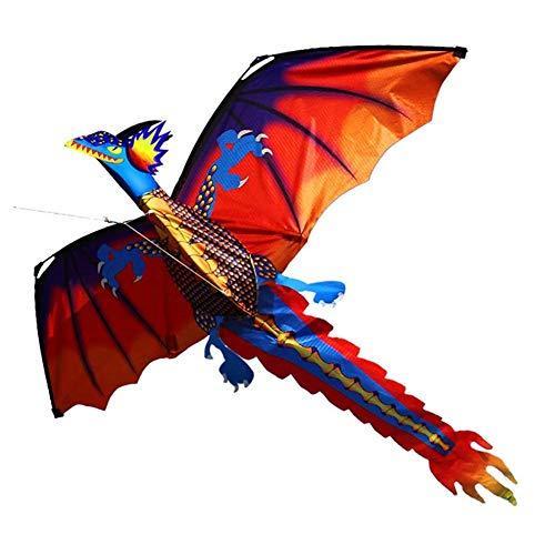 3D-Drachen In Dinosaurierform Mit 100-Meter-Platine Und Rotierendem Schwanz Für Strand- Und Outdoor-Sportanzüge Für Kinder Und Erwachsene