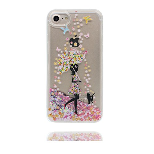 iPhone 7 Coque, Case Cover étui pour iPhone 7 4.7 pouces, Bling Glitter Fluide Liquide Sparkles Sables Mouvants Étoile Paillettes Flowing Brillante, iPhone 7 Case anti-chocs - Colorful ( Bling Bling) # 3