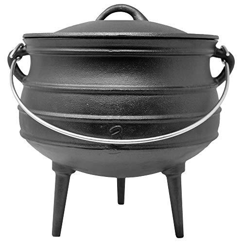 ToCis Big BBQ Potjie #3   Südafrikanischer Gusseisen Koch-Topf   Alternative zum Dutch-Oven   Größe: ca. 8 Liter