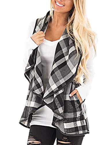 Shallgood donne gilet di pelliccia ecologica senza maniche con cappello per inverno b grigio it 50