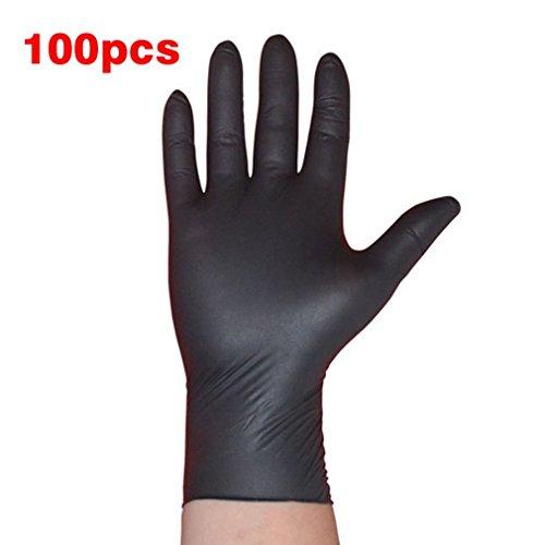 GreceMonday 100PCS / Set Haushaltsreinigung Waschen Einweg Mechaniker Handschuhe Schwarz Nitril Laboratory Nail Art Anti Statik Handschuhe