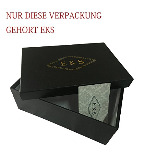 EKS - Scarpe con Tacco Donna (Nackt-schwarz-12cm)