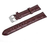 5starwarehouse ® marrone o nero, cinturino in pelle sintetica imbottita, di alta qualità e con fibbia, 5star + panno per la pulizia incluso