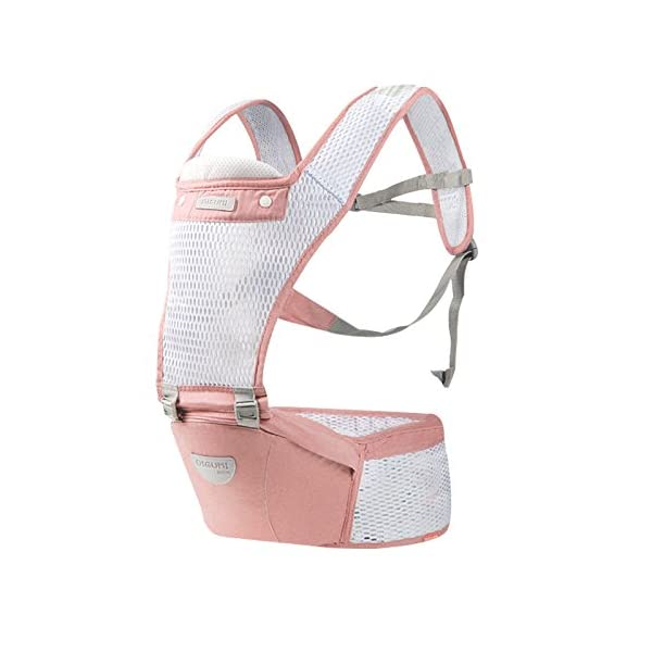 SONARIN 2018 Front Hipseat Baby Carrier, All Seasons Common, high Stretch Yarn Fabric, Summer Breathable, Ergonomic, 6 Carrying Positions,Adapted to Your Child's Growing,Ideal Gift(Pink) SONARIN Applicable age and Weight?0-48 months of baby, the maximum load: 20KG, and adjustable the waist size can be up to 45.7 inches (about 116cm). Material:designers choose breathe and dry high stretch yarn hollow fabric. All-round breathable design, 9MM breathable mesh, faster than the average 2 times the speed of the carrier, the baby's skin without any stimulation. Description: patented design of the auxiliary spine micro-C structure and leg opening design, natural M-type sitting. Widen the shoulder strap and belt will be effective to disperse the baby's weight to the shoulder and waist, so that mother more effort. Products by the strength of tensile and gravity testing, safety load 70 KG. 2