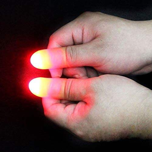 Delleu Light Up Thumbs Fingers Trick Appearing Light Close Up