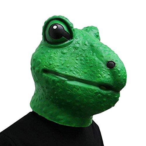 Nihiug Frosch-Masken-Kappe Trauriger Frosch Trauriger Frosch-Ausdruck Lustiger Peek Ein Boo-Geist Halloween-Baum-Verpackungs-Glühen Im Dunkeln,A