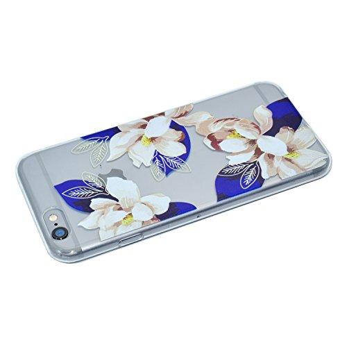 iPhone 6S Coque, Voguecase TPU avec Absorption de Choc, Etui Silicone Souple Transparent, Légère / Ajustement Parfait Coque Shell Housse Cover pour Apple iPhone 6/6S 4.7 (Deux chats)+ Gratuit stylet l Gardénia 01