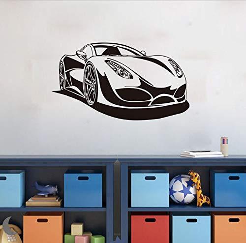 WENHAODJ Rennen Sportwagen Club Wand Applique Sofa Wohnzimmer Dekoration Aufkleber Kunst PVC Vinyl kreative wanddekoration Auto Aufkleber Auto Aufkleber 76x43 cm - Rennen-auto-vorhänge