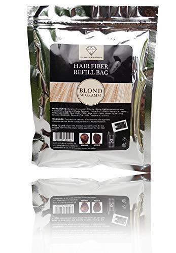 Michelle Friese Refill Bag - Nachfüllpack - Hair Fiber - Haarverdichtung - Hochwertiges Streuhaar und Schütthaar bei Haarausfall, Geheimratsecken, lichtem Haar - Haarpuder 50 g (Blond)