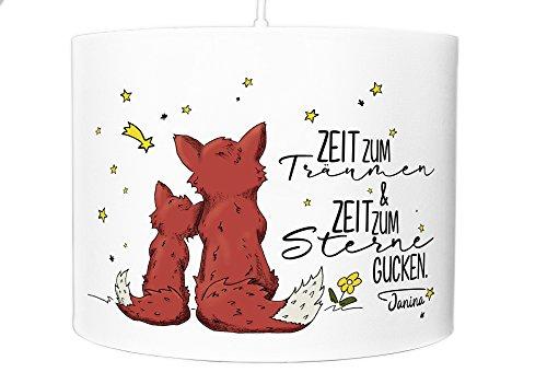 Lampe de Plafond Suspension Chambre Abat-jour Name Fuchs étoiles ls058, Rot, 60er Lampenschirm mit Fassung und Diffusor, E27