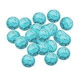 B Baosity 20 Piezas Piedras Preciosas Cabujones Cuentas Azul Turquesa para Decoración de Accesorio Joya de Manualidades