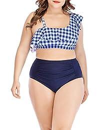 POLP Bikinis Mujer 2019 Push up Tallas Grandes Mujer Traje de Gordo Sujetador Tanga de Rayas Verano Playa Trajes…