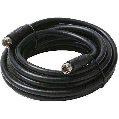 STEREN 205–423bk 4.57m Typ F Typ F schwarz Kabel Koaxial–Kabel Koaxial (Luxus, Typ F, RG6, 4,57m, schwarz)