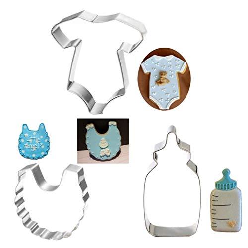 AMOYER Ducha 3pcs / Set al bebé temática Galleta de la Galleta de los Pasteles Cortadores Herramienta de la Torta Molde de la hornada