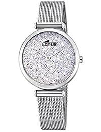 Lotus Watches Reloj Análogo clásico para Mujer de Cuarzo con Correa en Acero Inoxidable ...