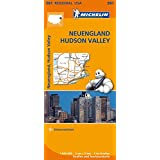 Michelin Neuengland, Hudson Valley: Straßen- und Tourismuskarte 1:500.000 (MICHELIN Regionalkarten)
