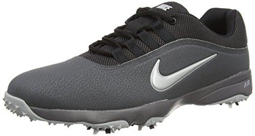 Nike Herren Air Rival 4 Golfschuhe, Schwarz (Black/Metallic Silver/Dark Grey/Wolf Grey), 45 EU