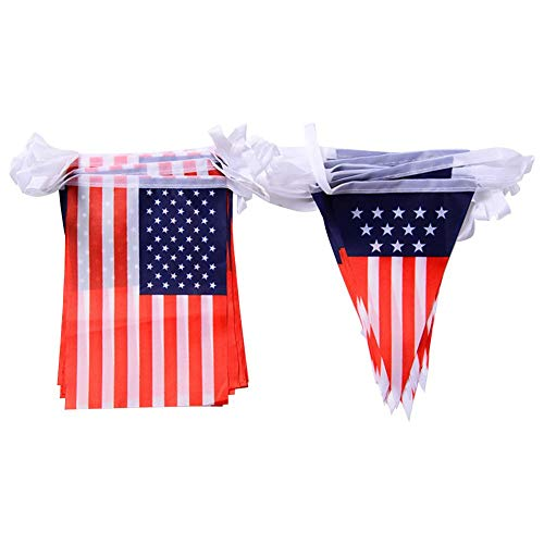 Lâ Vestmon USA Amerika Flagge Bunting Party Dekoration Banner 4. Juli US Party Dekoration Banner Bunting Banner