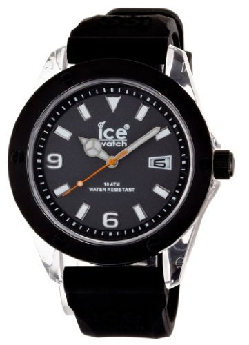 ICE-Watch - Montre Mixte - Quartz Analogique - XXL - Black - XXL - Cadran Noir - Bracelet Silicone Noir - XX.BK.XX.S.09