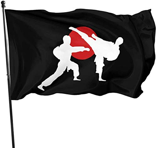 Viplili Flagge/Fahne, Outdoor Two Karate Fighter Garden Flag, Family Party Flag - 3 X 5 Ft