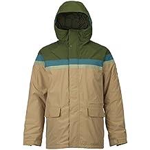 61147a4ede Burton Docket, Giacca da Snowboard Uomo, Rifle Green/Jasper/Olive Branch  Distress