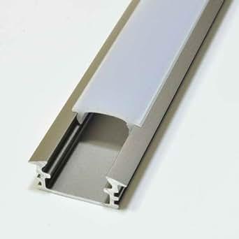 Alu Profil Aluminium Inox Eloxiert 1m Opal P1 für LED Streifen