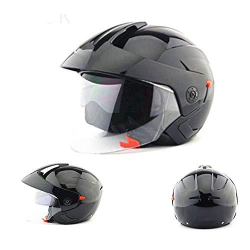 LGPNB Motorradhelm Elektrische Fahrrad Outdoor Sicherheit Rüstung/Männer und Frauen Helm Halben Helm Schutzkappe 21,7-25,3 Zoll (55-64 cm)-Darkgray